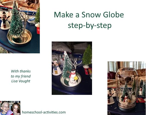 make a snow globe step by step