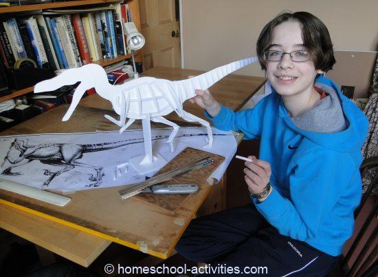model dinosaur Velociraptor