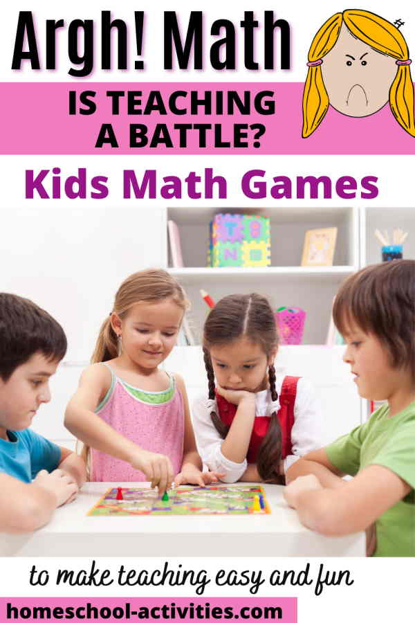 Board and card games for teaching math