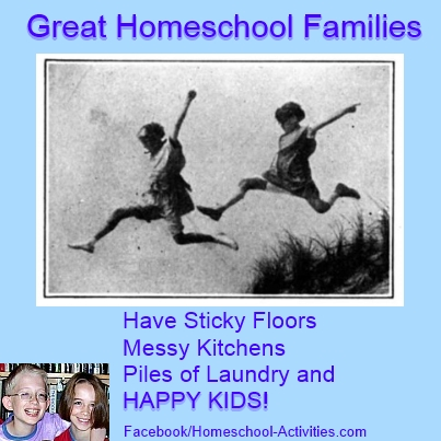 great homeschool families have messy houses