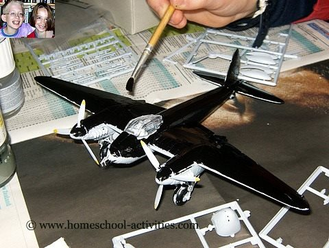 Making plastic model airplanes