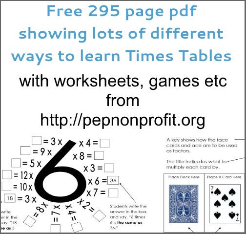 free times table resource