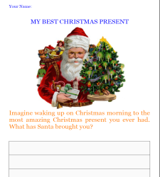 my best christmas present writing worksheet