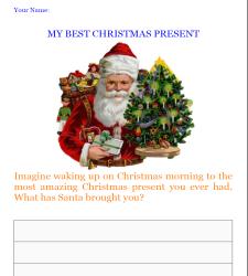 my best christmas present writing worksheet