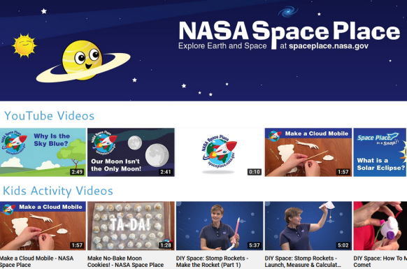 NASA Space Place YouTube videos