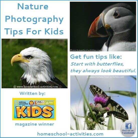 nature photography tips for kids