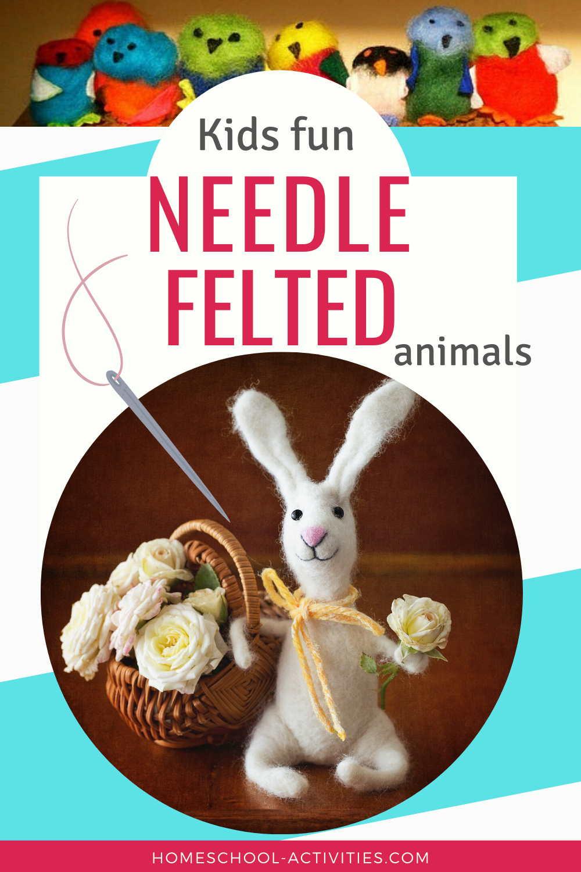 Needle felted animals