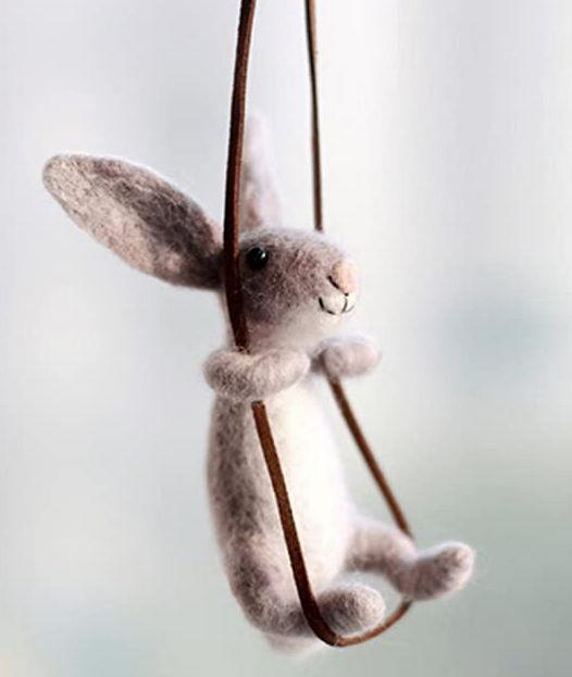 Needle felted rabbit