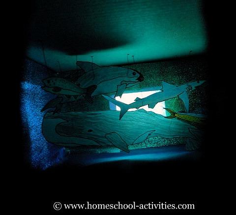 shoebox ocean diorama