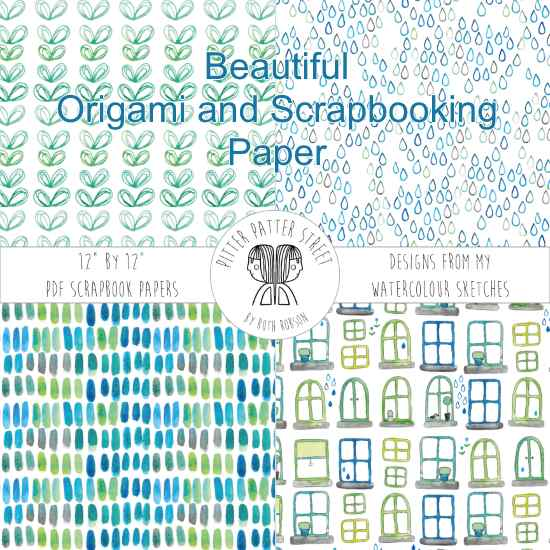 origami and scrapbooking paper