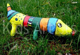 Paper Mache Projects Ideas: Kids Model Dragon