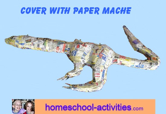 paper mache dragon body