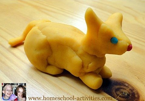 play dough cat