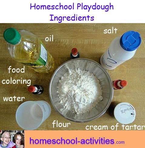 play dough recipe ingredients