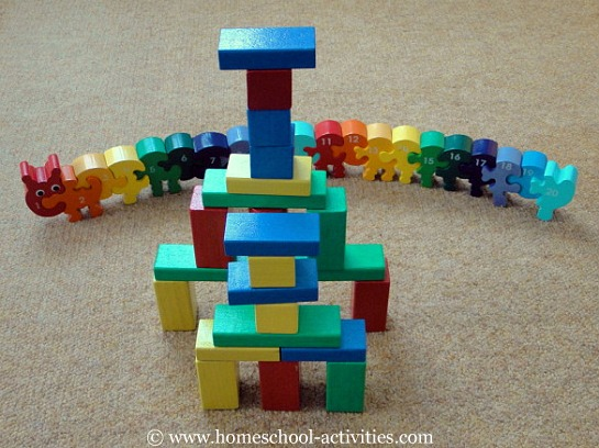 blocks and counting caterpillar