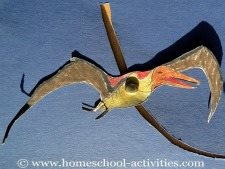 pterosaur flying in paper crafts