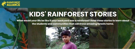 Children who live in the rainforest