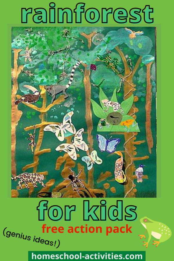 Rainforest crafts and activities for kids