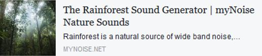 Rainforest sound generator