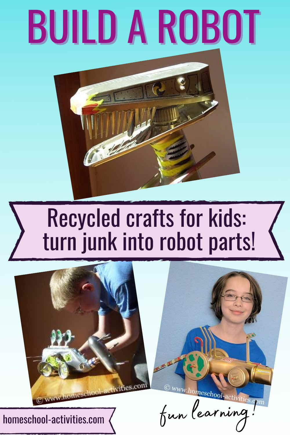 Recycled kids crafts diy models