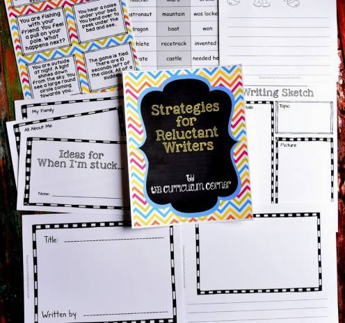 reluctant writers free resources