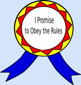 I promise to obey the rules