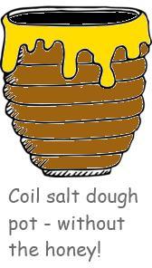 salt dough coil pot