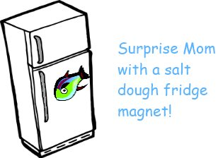 salt dough fridge magnet