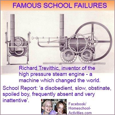 Richard Trevithic's school report