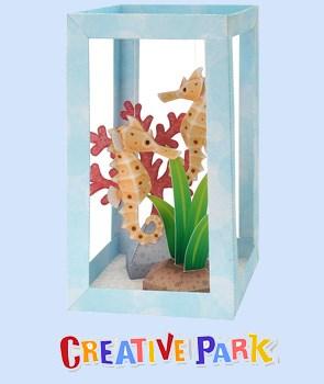 seahorse aquarium diorama
