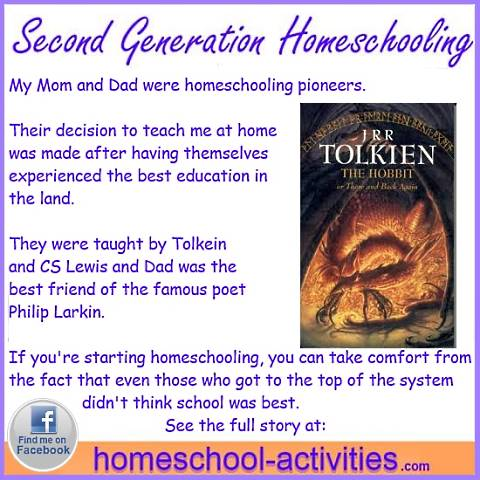 My Mom and Dad were taught by JRR Tolkein and CS Lewis