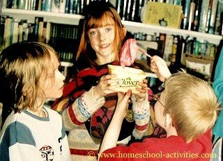 kids holding slime