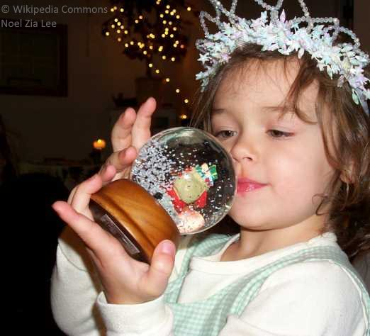 snow globe girl