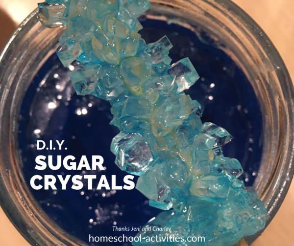 Grow sugar crystals