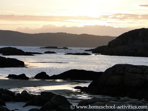 sunset on the Isle of Mull