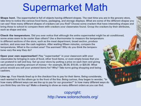 Math Worksheets supermarket math worksheets : Fun Kindergarten Math Activities and Games