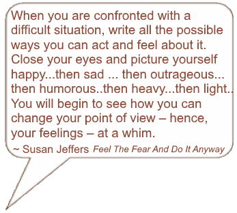 Susan Jeffers quote from Feel The Fear And Do It Anyway