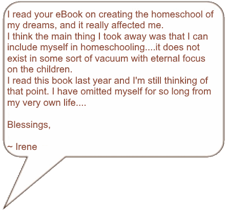 Testimonial for the How to Homeschool eBook