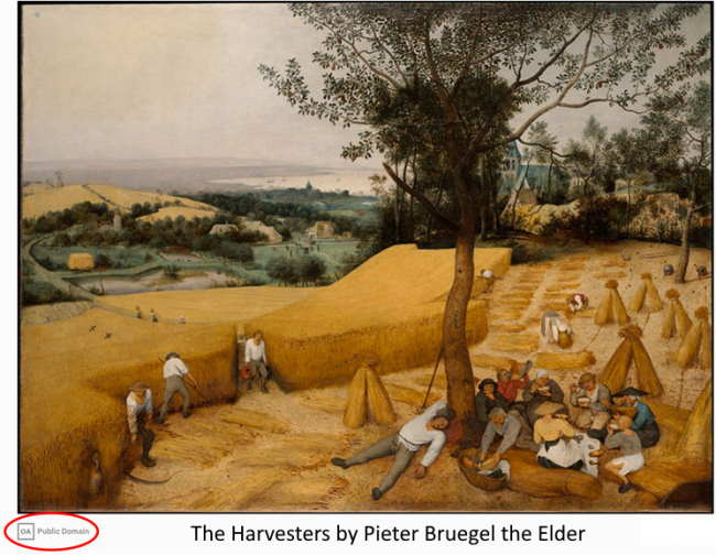 The Harvesters by Pieter Bruegel