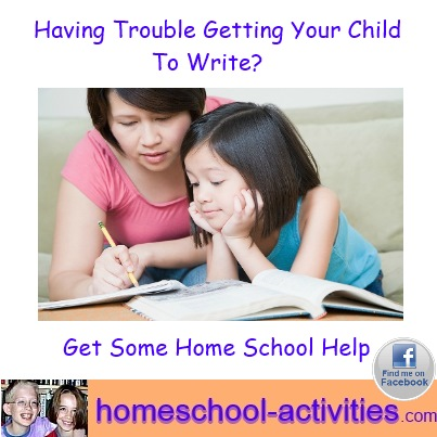 trouble with writing - get some home school help