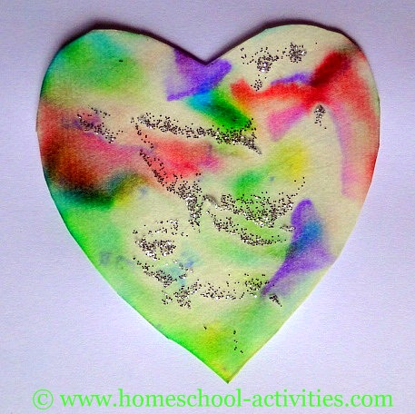 Preschool crafts for kids valentine 39 s day pastel heart for Valentine day crafts for kids