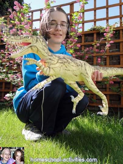 finished Velociraptor dinosaur model