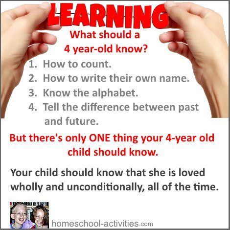 What should a four year old know?