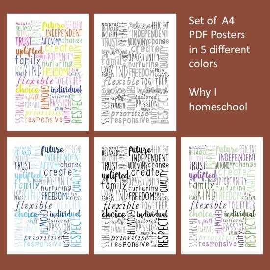 why I homeschool posters