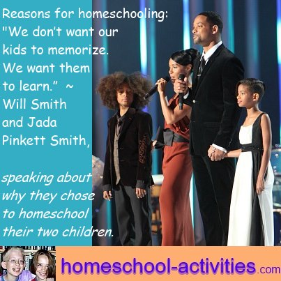 Quote from Will Smith about homeschooling