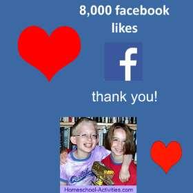 8000 facebook likes