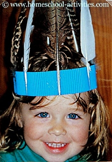 Catherine with feather headdress