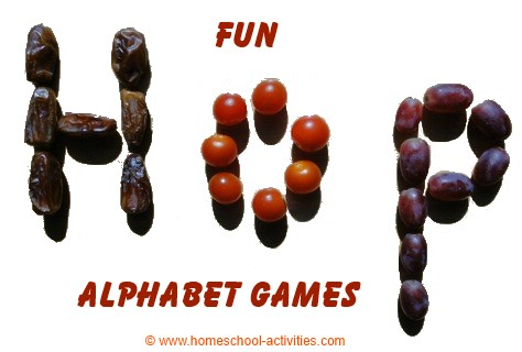 fun alphabet games with food