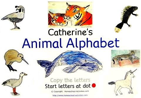 animal alphabet worksheets
