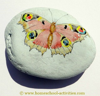 butterfly pebble